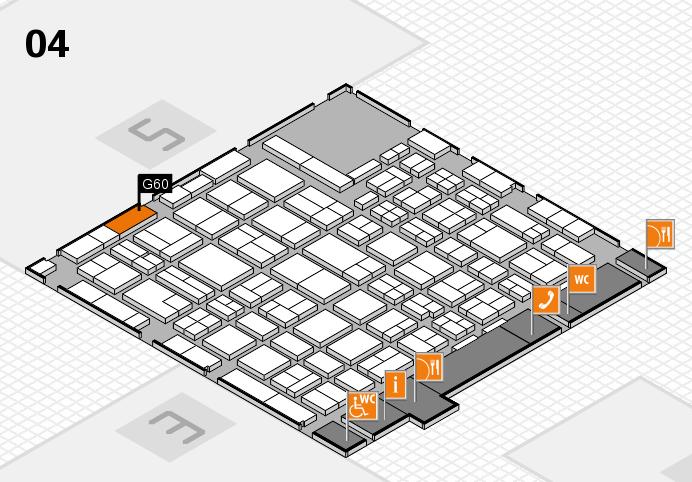 MEDICA 2016 hall map (Hall 4): stand G60