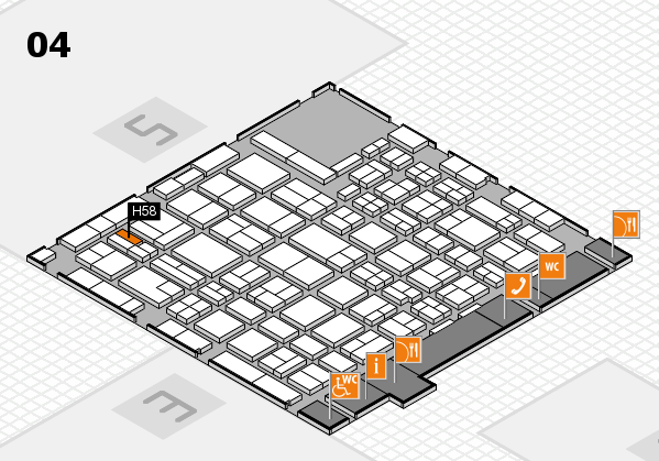 MEDICA 2016 hall map (Hall 4): stand H58