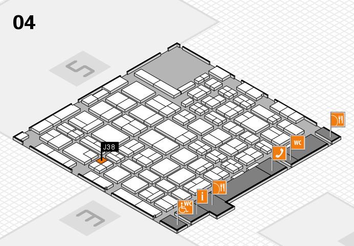 MEDICA 2016 hall map (Hall 4): stand J38