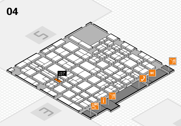 MEDICA 2016 hall map (Hall 4): stand J37
