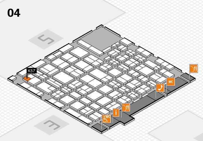 MEDICA 2016 hall map (Hall 4): stand K57