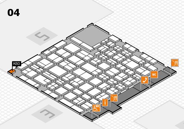 MEDICA 2016 hall map (Hall 4): stand K60