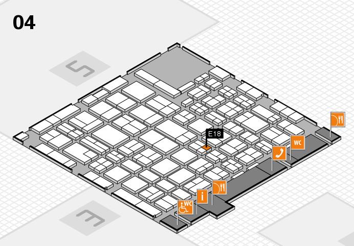MEDICA 2016 hall map (Hall 4): stand E18