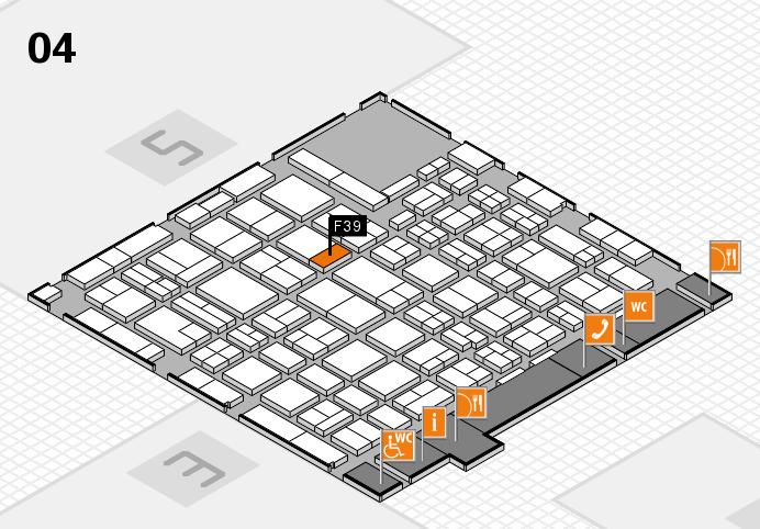 MEDICA 2016 hall map (Hall 4): stand F39
