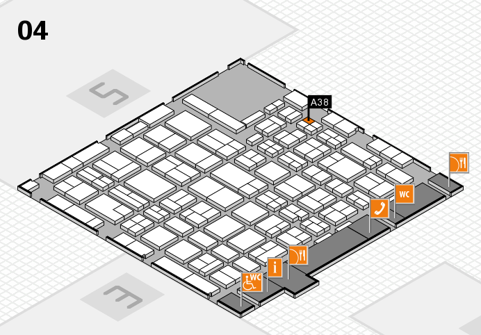 MEDICA 2016 hall map (Hall 4): stand A38