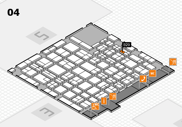 MEDICA 2016 hall map (Hall 4): stand B29