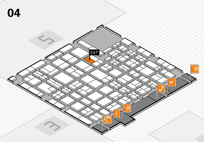 MEDICA 2016 hall map (Hall 4): stand E47