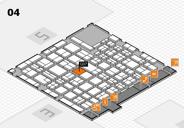 MEDICA 2016 hall map (Hall 4): stand G37