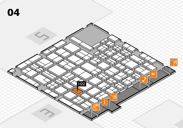 MEDICA 2016 hall map (Hall 4): stand H22
