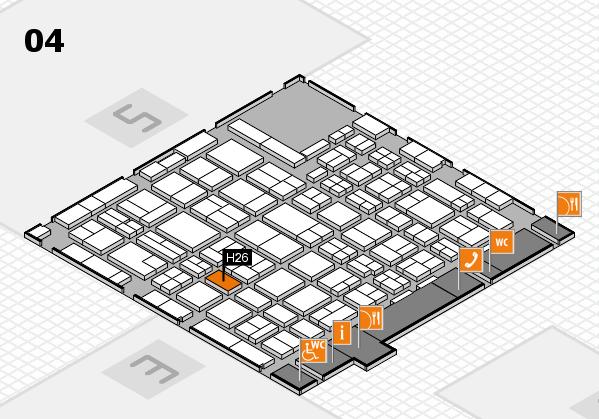 MEDICA 2016 hall map (Hall 4): stand H26