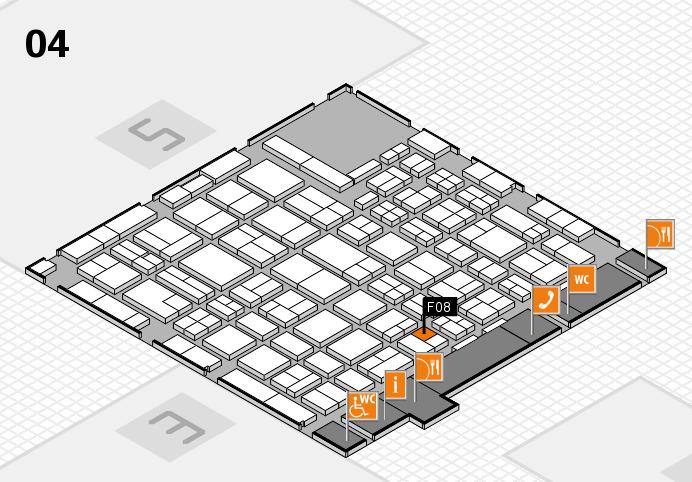 MEDICA 2016 hall map (Hall 4): stand F08