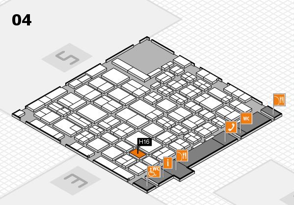 MEDICA 2016 hall map (Hall 4): stand H16
