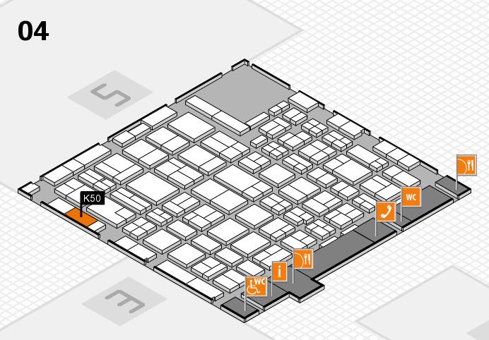 MEDICA 2016 hall map (Hall 4): stand K50