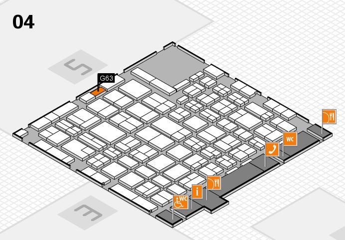 MEDICA 2016 hall map (Hall 4): stand G63