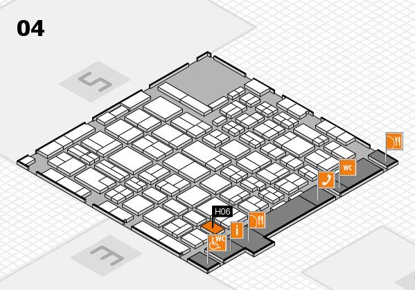 MEDICA 2016 hall map (Hall 4): stand H06