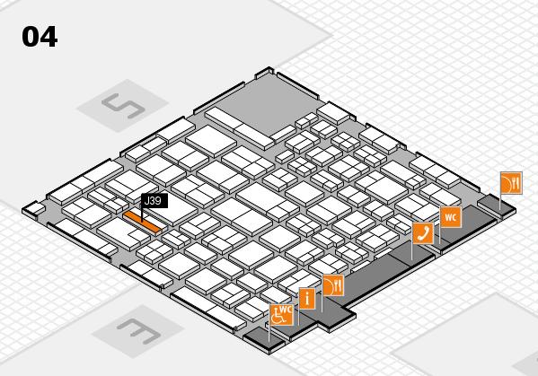 MEDICA 2016 hall map (Hall 4): stand J39