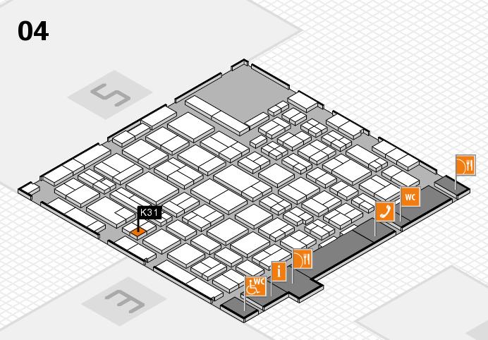 MEDICA 2016 hall map (Hall 4): stand K31