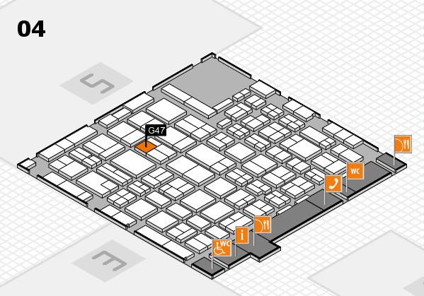 MEDICA 2016 hall map (Hall 4): stand G47
