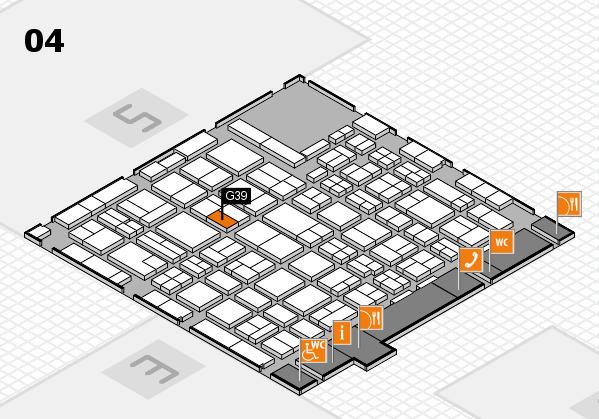 MEDICA 2016 hall map (Hall 4): stand G39