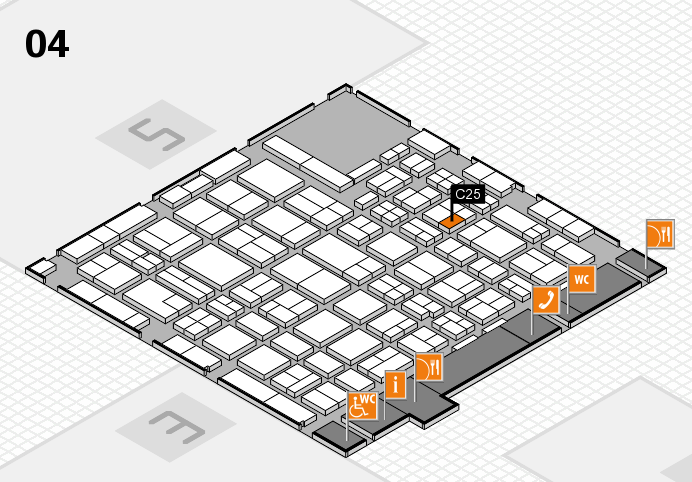 MEDICA 2016 hall map (Hall 4): stand C25