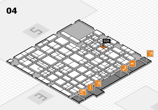MEDICA 2016 hall map (Hall 4): stand B28