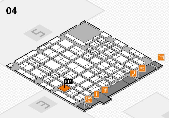 MEDICA 2016 hall map (Hall 4): stand K17