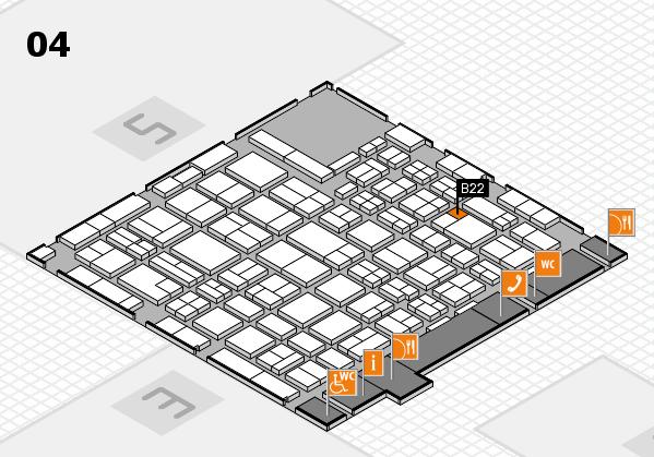 MEDICA 2016 hall map (Hall 4): stand B22