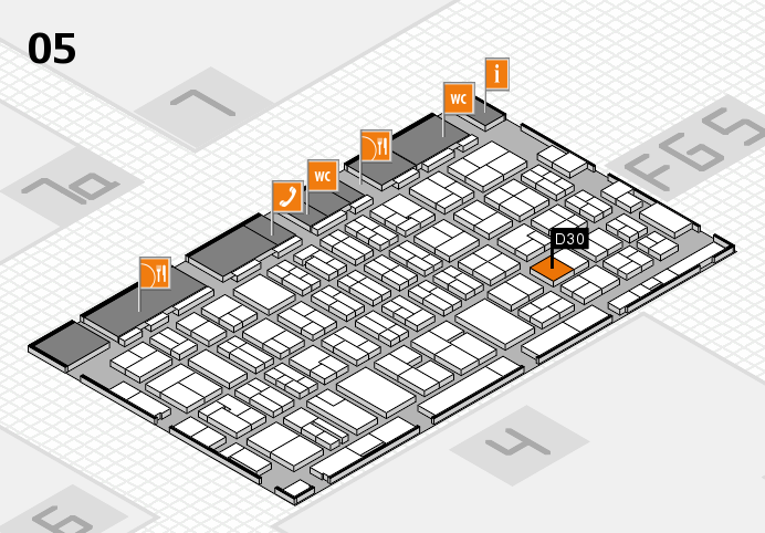 MEDICA 2016 hall map (Hall 5): stand D30
