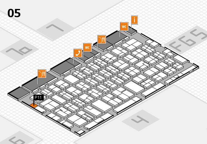 MEDICA 2016 hall map (Hall 5): stand P11