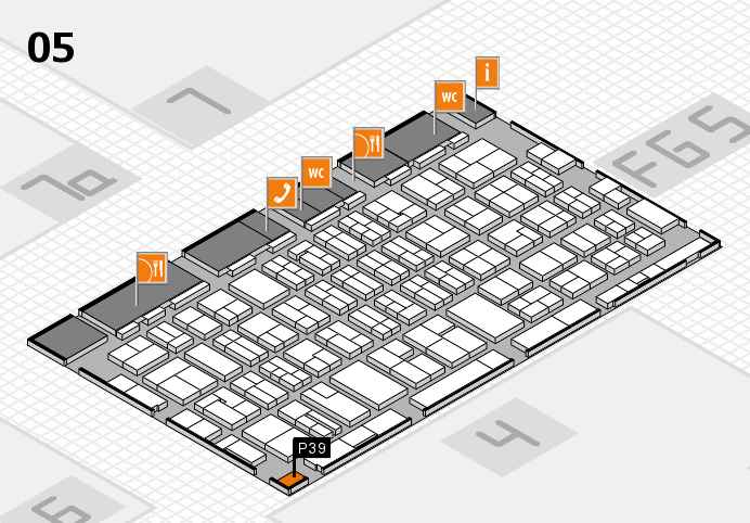 MEDICA 2016 hall map (Hall 5): stand P39