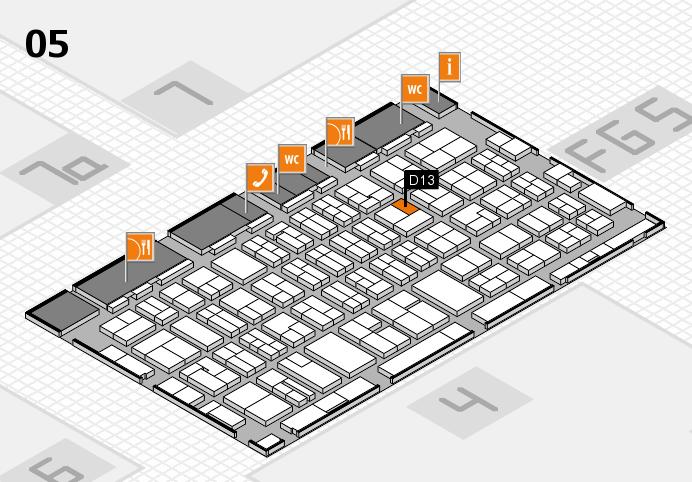 MEDICA 2016 hall map (Hall 5): stand D13