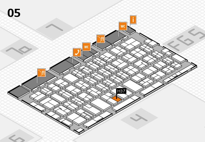 MEDICA 2016 hall map (Hall 5): stand H37