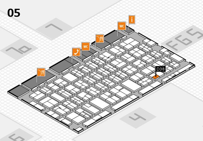 MEDICA 2016 hall map (Hall 5): stand D38