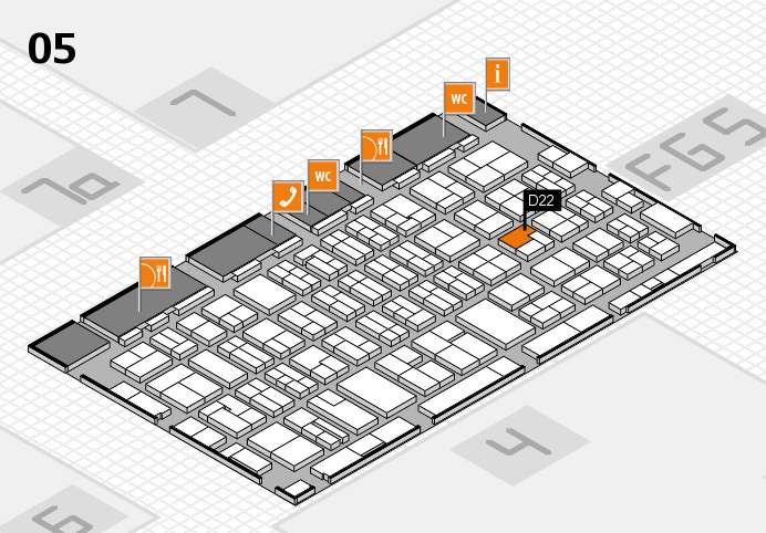 MEDICA 2016 hall map (Hall 5): stand D22