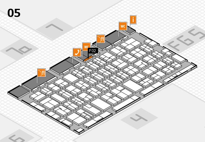 MEDICA 2016 hall map (Hall 5): stand F02
