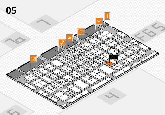 MEDICA 2016 hall map (Hall 5): stand E30