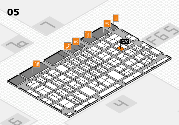 MEDICA 2016 hall map (Hall 5): stand C20