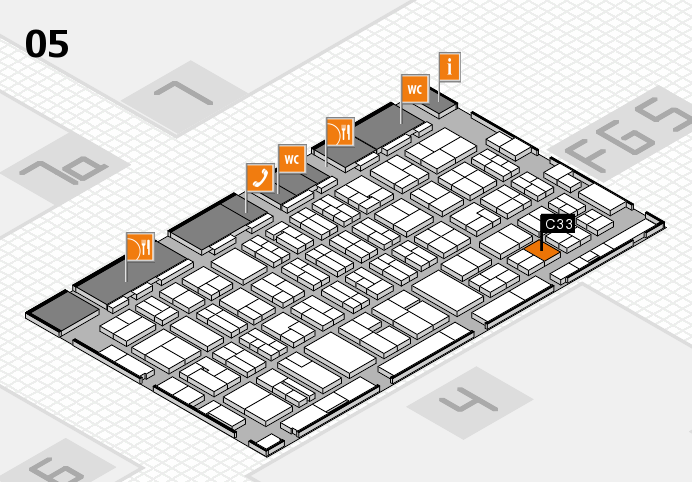 MEDICA 2016 hall map (Hall 5): stand C33