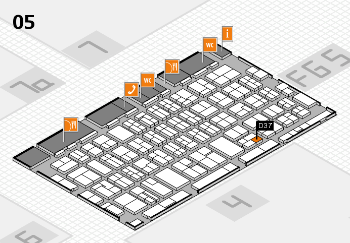 MEDICA 2016 hall map (Hall 5): stand D37
