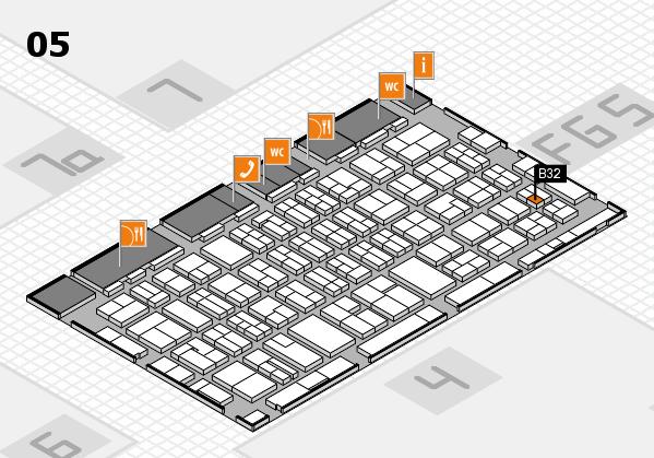 MEDICA 2016 hall map (Hall 5): stand B32