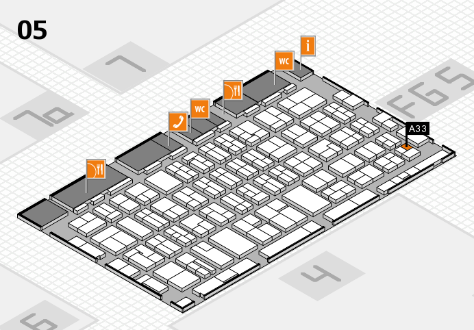 MEDICA 2016 hall map (Hall 5): stand A33