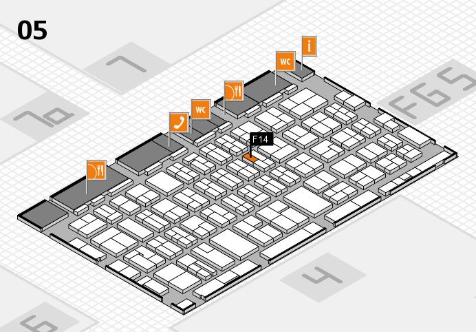 MEDICA 2016 hall map (Hall 5): stand F14