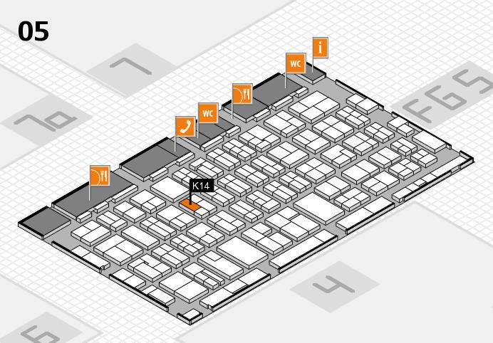 MEDICA 2016 hall map (Hall 5): stand K14