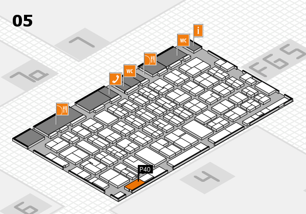 MEDICA 2016 hall map (Hall 5): stand P40