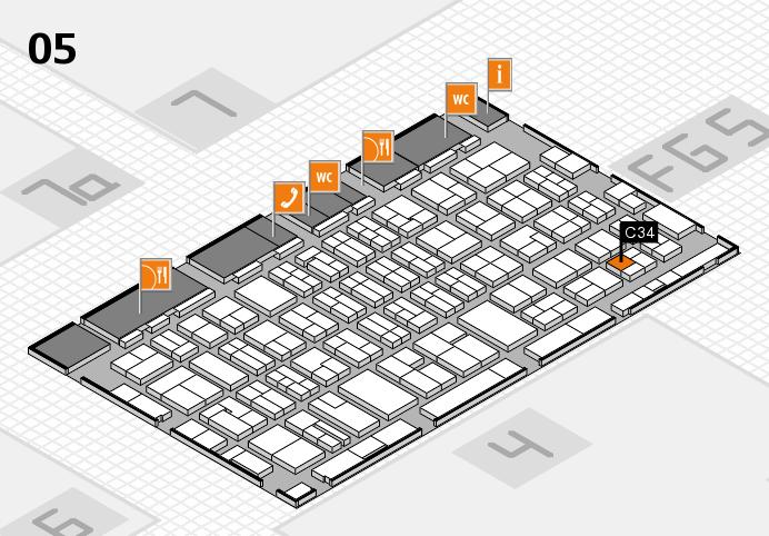 MEDICA 2016 hall map (Hall 5): stand C34