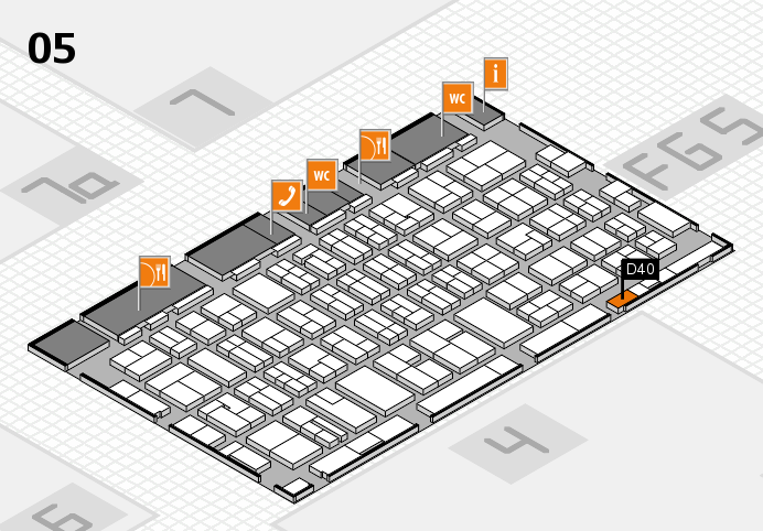 MEDICA 2016 hall map (Hall 5): stand D40