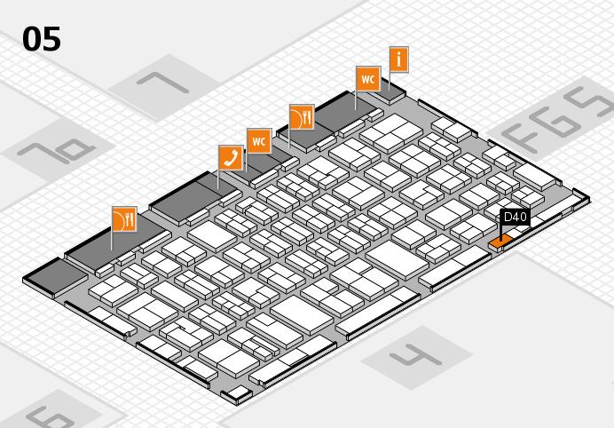 MEDICA 2016 hall map (Hall 5): stand D40