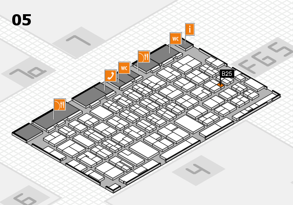 MEDICA 2016 hall map (Hall 5): stand B25