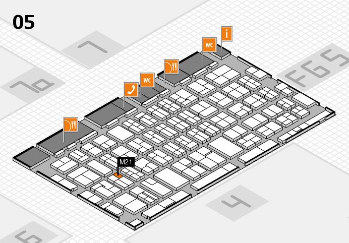 MEDICA 2016 hall map (Hall 5): stand M21