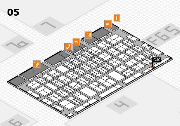 MEDICA 2016 hall map (Hall 5): stand C40